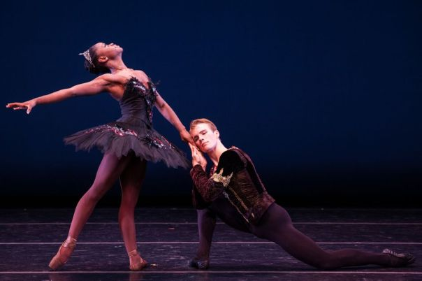 Dance Theatre of Harlem's Samuel Wilson and Michaela DePrince in Black Swan Pas de Deux.